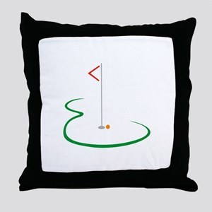 Golf Green Throw Pillow